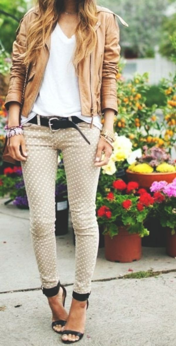 <3 How about wearing Polka Dots this SPRING <3 46 Cute Spring Outfits to copy ASAP