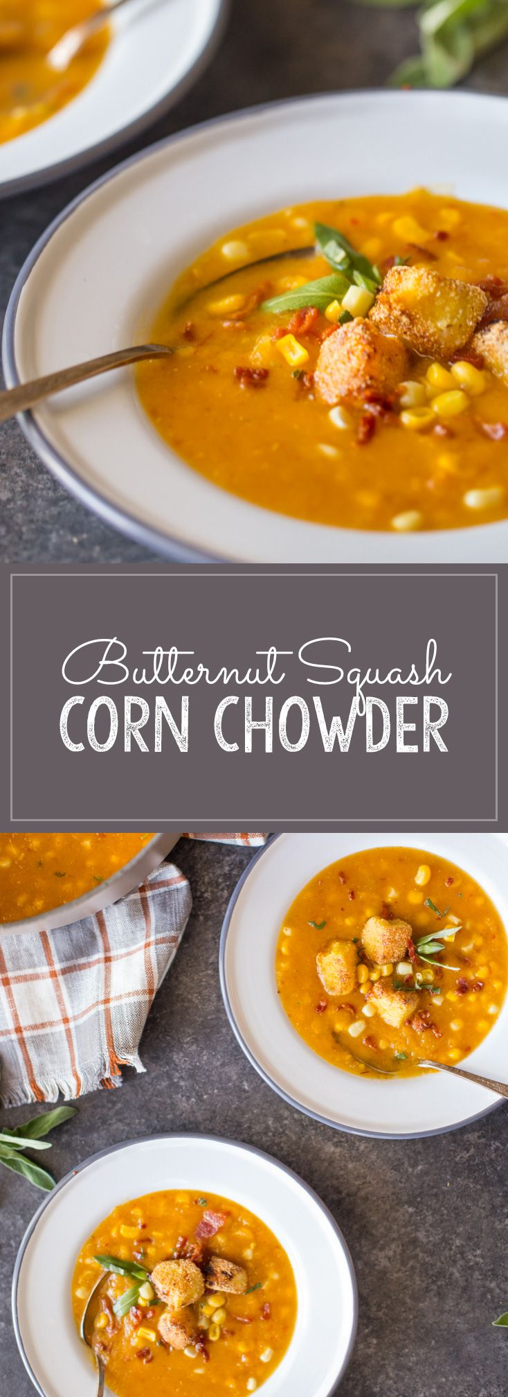 ... Corn Chowder with Goat Cheese Croutons | Recipe | Bacon, Sweet corn