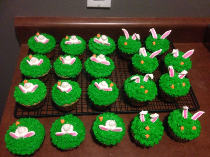 Easter bunny bums and ears. Ready for Easter Sunday :)