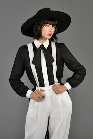 black and white matching separates - Google Search