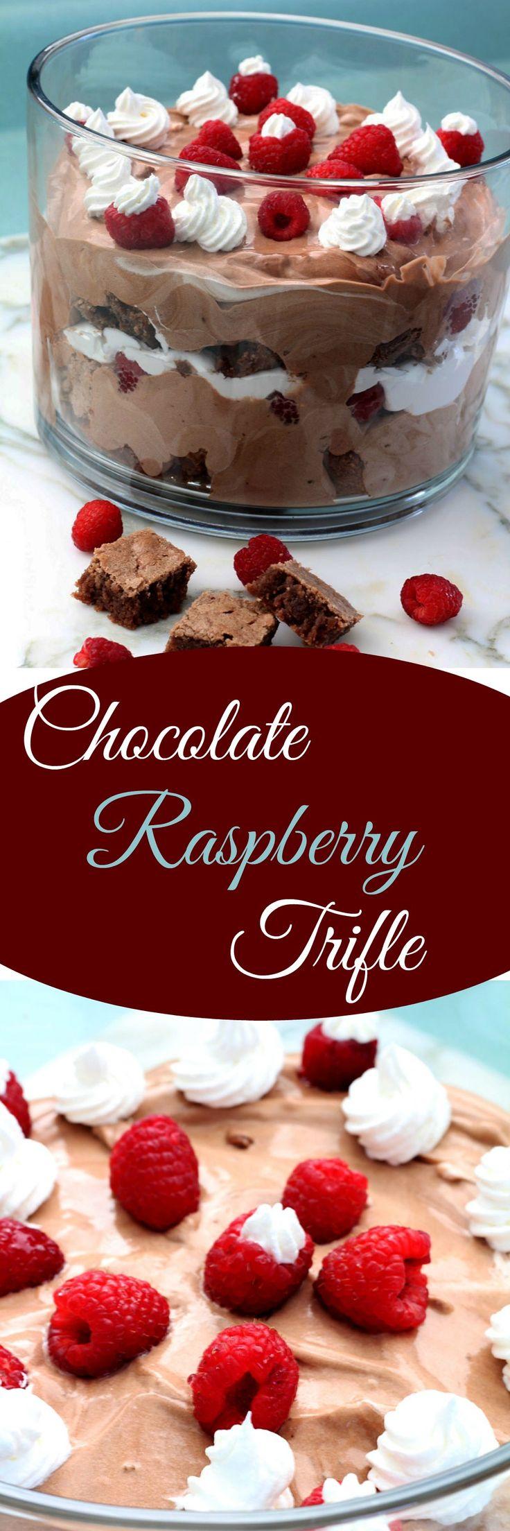 Chocolate Raspberry Trifle , Recipe Treasures