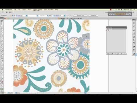 How to create a pattern in Illustrator: Paisley - YouTube