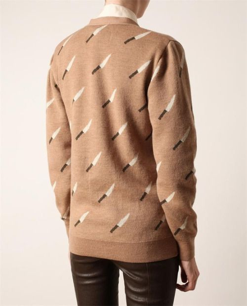 Knife sweater by Browns.