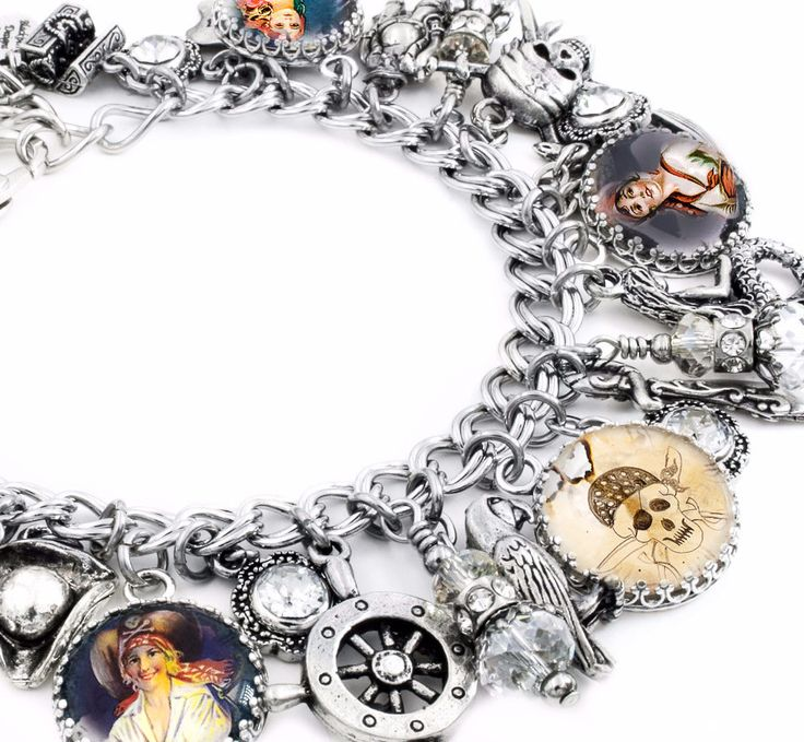 In my charm bracelet shop you will find a large selection of silver charm bracelets, pirate bracelets and pirate jewelry with charm necklaces, pirate charm bracelet, renaissance jewelry, drop earrings