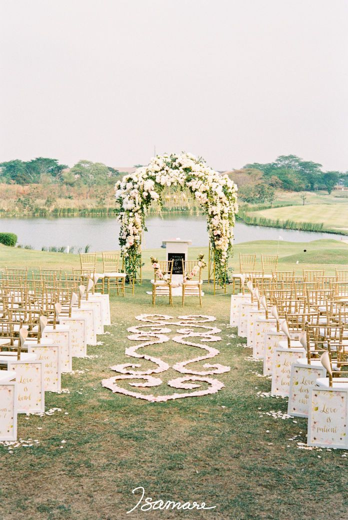 75 best outdoor wedding images on pinterest glamping weddings outdoor wedding decoration timeless blush gold wedding by isamare http junglespirit Images