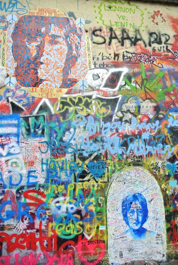 Your graffiti wall - The Daily Savant Oh Hey There Mr Lennon I Almost Graffiti Wallwall Muralsartsy