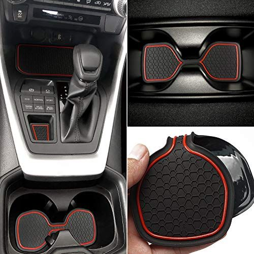 Auovo Anti Dust Mats For Toyota Rav4 2019 2020 Custom Fit Door Compartment Cup Holder Console Liners Interior Accessories 13pcs Set Red Toyota Rav4 2019 Toyota Rav4 Toyota Rav4 Accessories