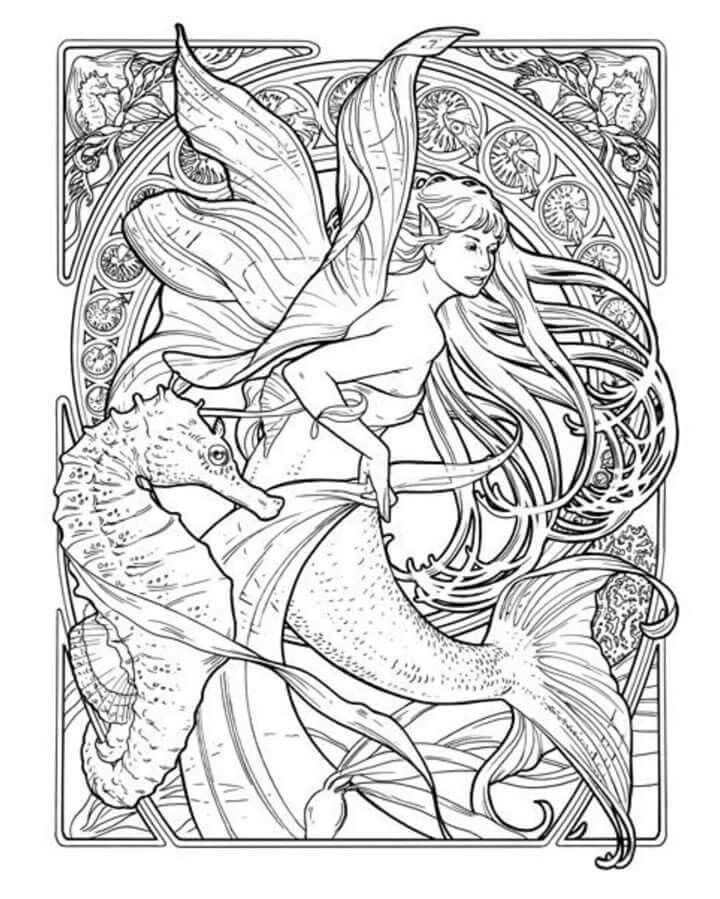 Cloloring Mermaid coloring pages, Coloring pages