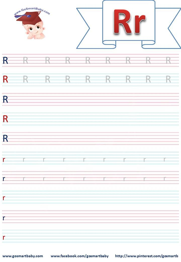 To help your kid practice writing both the capital and lowercase alphabetuse this printable worksheet for The letter R.Feel free to print it, use it and share it on your social media by linking d...