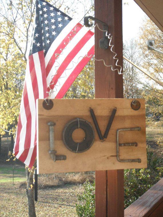 Charming Love sign old rough cut poplar wood by TheCharmingFarm, $45.00