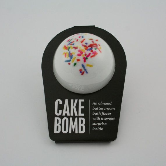 An almond buttercream bath fizzer with a surprise inside!  This bath fizzer was created by a pair of teenage sisterpreneurs™ named Isabel and