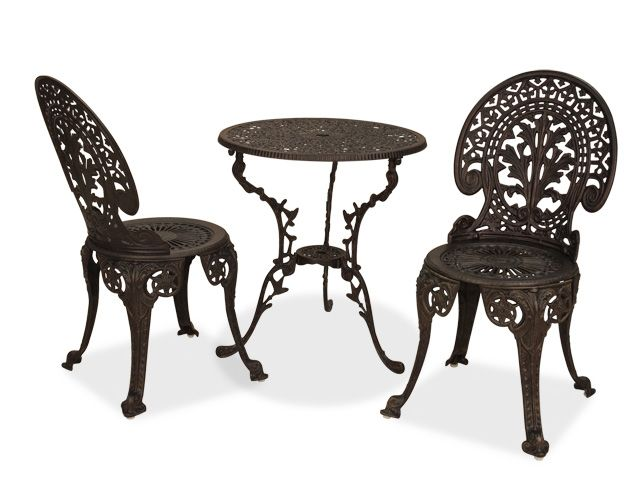 Awesome Vienna 3 Pc. Cast Aluminum Bistro Set With 28 Table