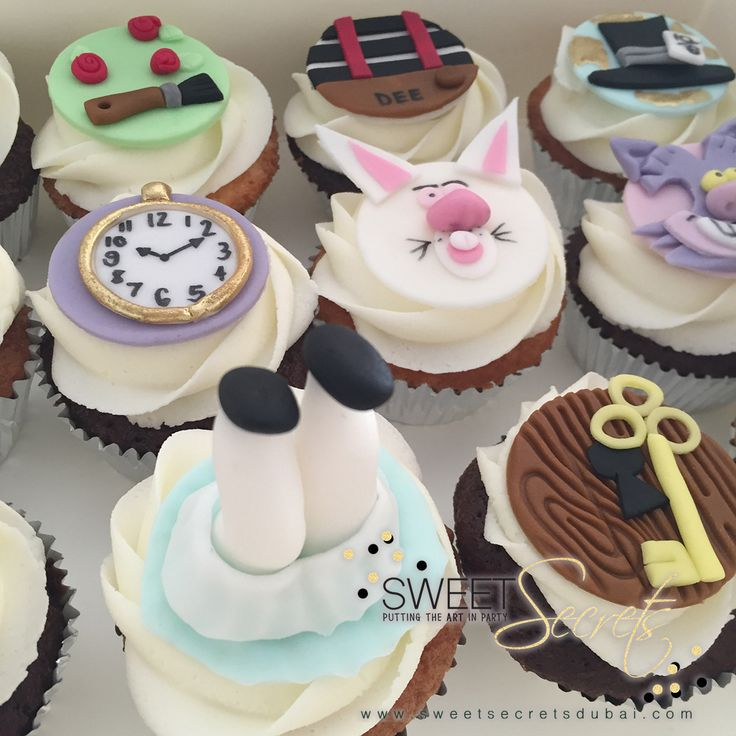Alice in wonderland Cupcakes www.sweetsecretsdubai.com