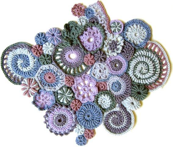Fossil - lovely freeform crochet circles by Rebecca Painter via the galleries at the crochet.nu site