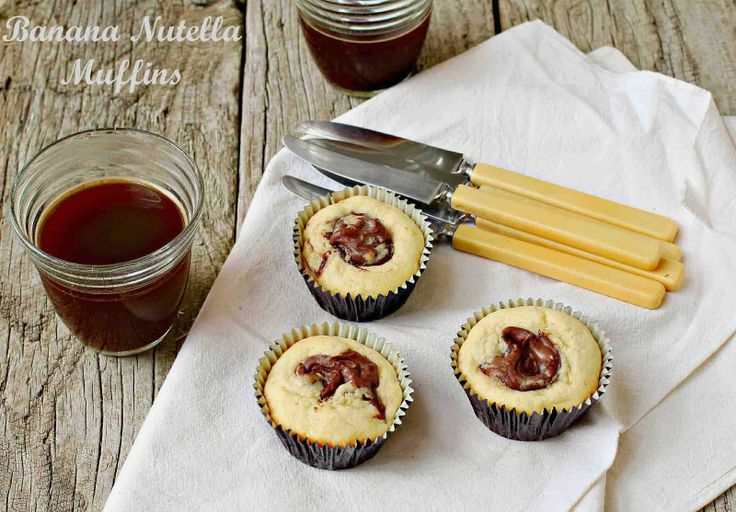 Milk and Honey: Banana Nutella Muffins