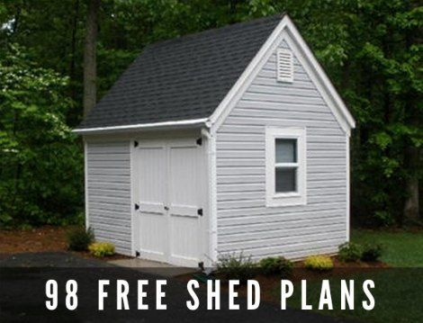 98 Free Shed Plans: Are you in need of a shed or covered area to use for additional storage? You can buy a pre-built shed at a local home improvement store or go the DIY route and build your own. The best way to start a brand new shed project on your property is to review free shed plans.
