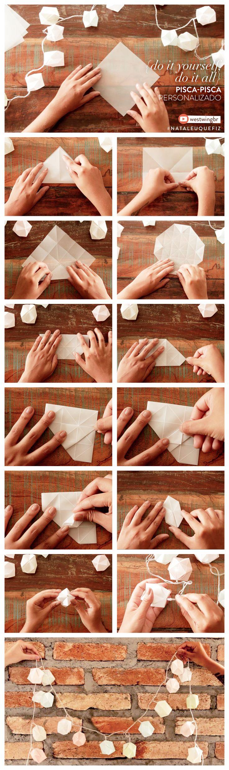 Tem um pisca-pisca de Natal em casa e quer deixá-lo com uma carinha diferente? Aprenda com nosso passo-a-passo como um pequeno pedaço de papel vegetal pode transformar a iluminação de qualquer ambiente!