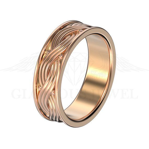 Mens Wedding Band Silver Wedding Band Gold Wedding Band