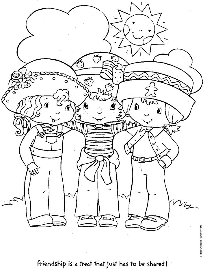 free strawberry shortcake coloring book pages printable coloring pages
