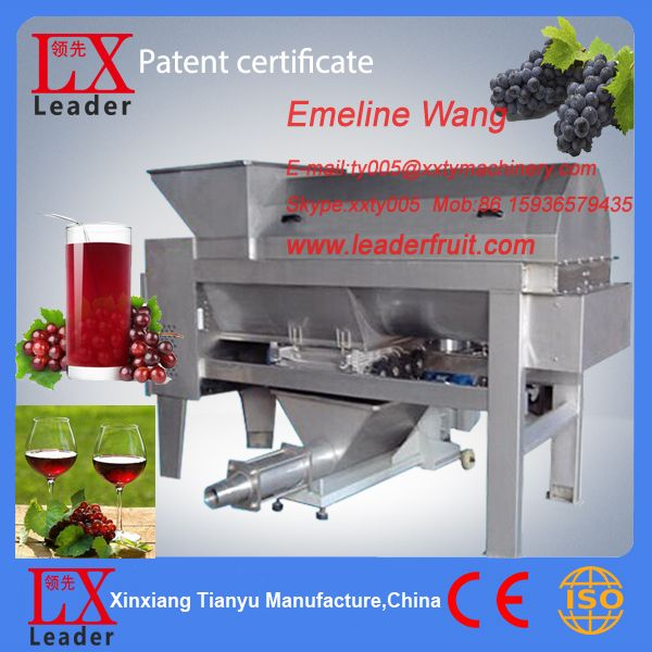 grape destemmer crusher  this machine is used to remove grape stem and crush grapes for making grape juice or wine.