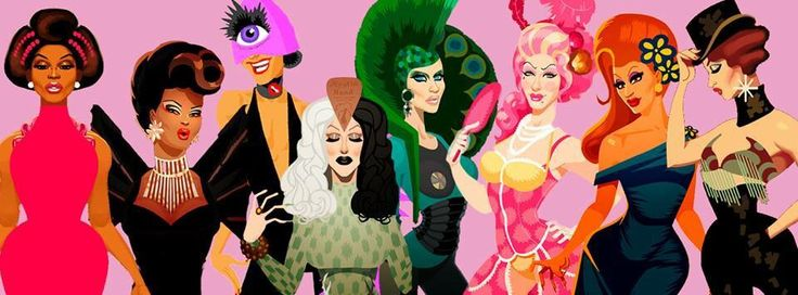 Winners of Rupaul's Drag Race by Chad Sell