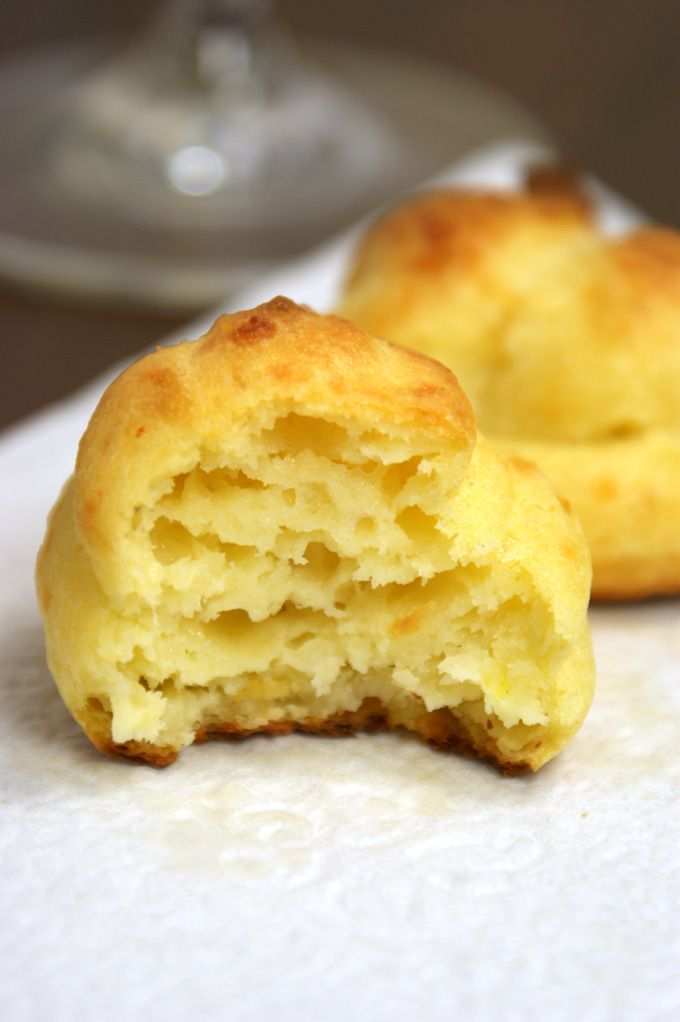 Parmesan and Asiago Gougère (French cheese puffs) great Christmas appetizer!