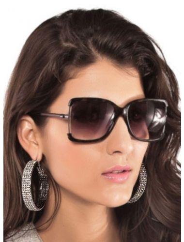 Precious Black Earrings With White Sparkling Rhinestones | Fashion Earrings | Jewelery | StringsAndMe