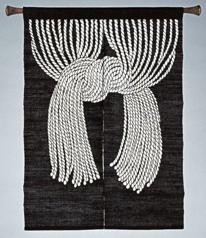 Serizawa Keisuke Nawa Noren (Staw Rope Curtain) 1955 Tohoku Fukushi University Serizawa Keisuke Art and Craft Museum