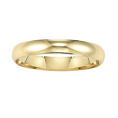 New Gold Wedding Band Womens mm K jcpenney