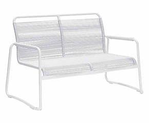 Divano in alluminio e pvc Kloe bianco - 135x84x70 cm