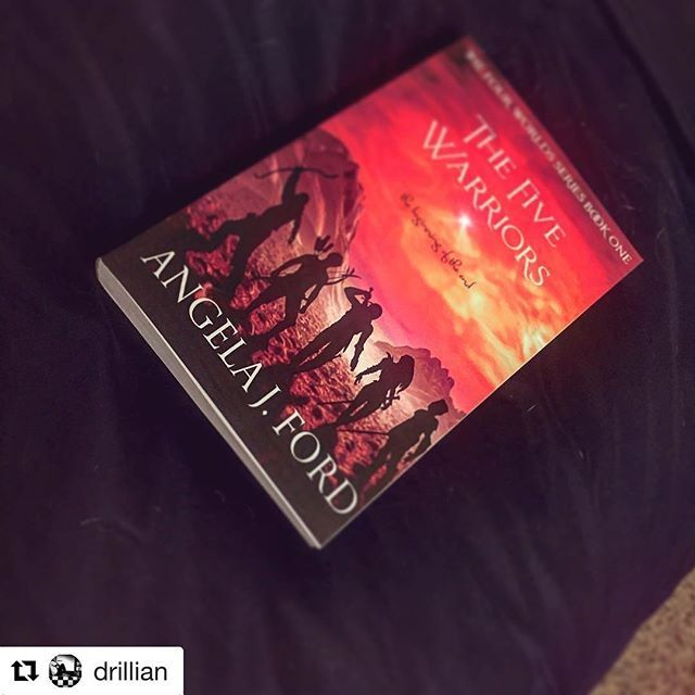 It's #indieauthorday shout out to  @drillian for grabbing a copy of #thefivewarriors ・・・ @aford21 I'm 8 pages in and loving it! Can't wait to finish! . . . . #thefivewarriors #bookish #indieauthors #amreading #fantasy #ya #selfpublish #selfpublishing #bib