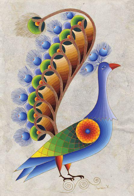 Peacock Attracting  ~  Seeroon Yeretzian