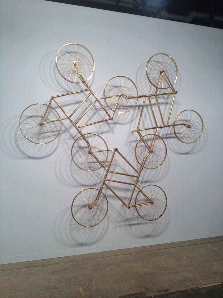 FOREVER BICYCLES, Ai Wei Wei (b1957, Beijing, China) using 3,144 bikes | Art Basel Miami, USA