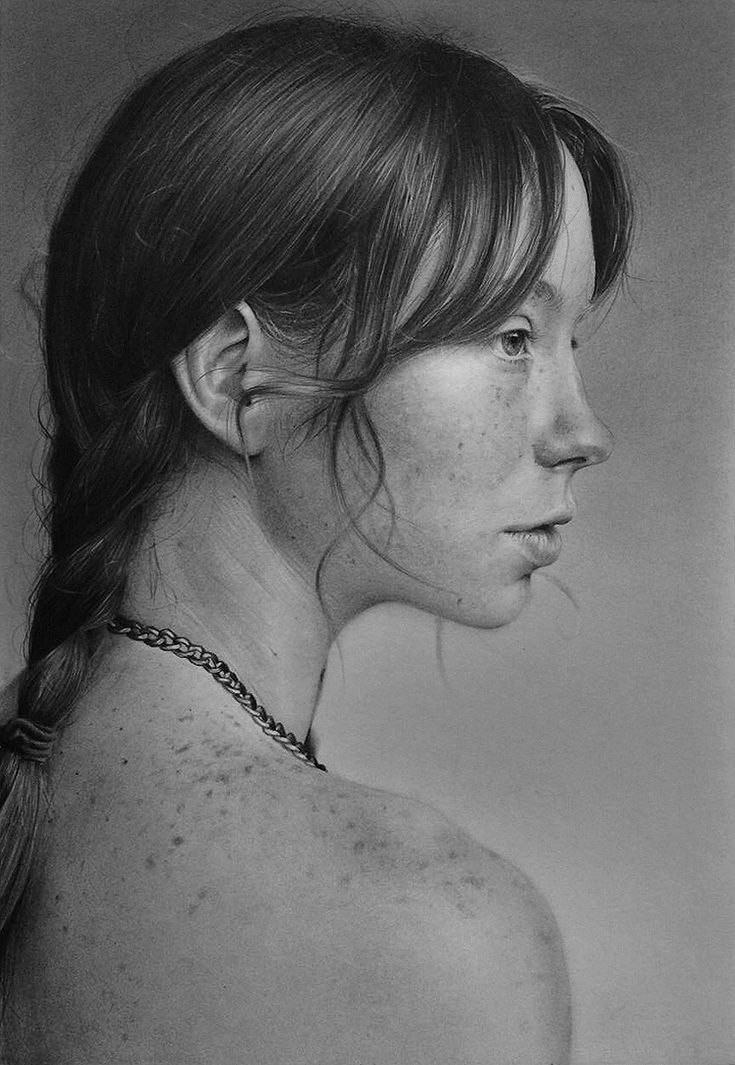 A traditional pencil drawing of Hattie Watson