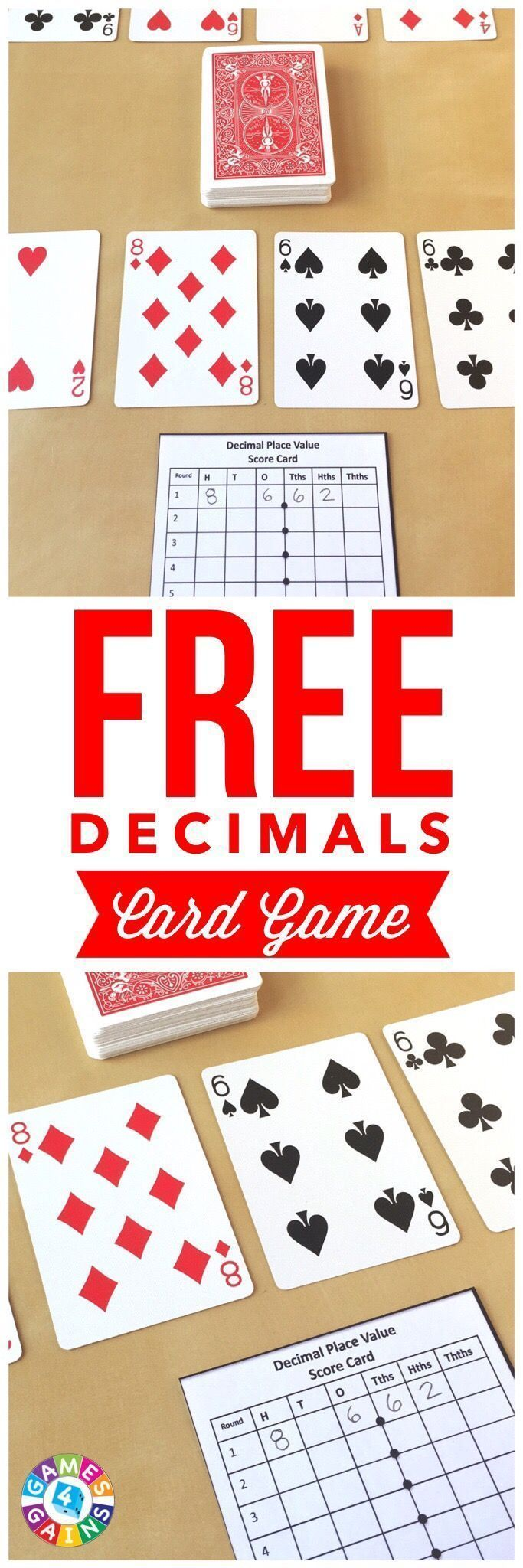 My students love this fun and easy-to-prep decimals card game!  Works great for practicing decimal place value! #teachingkidsmath