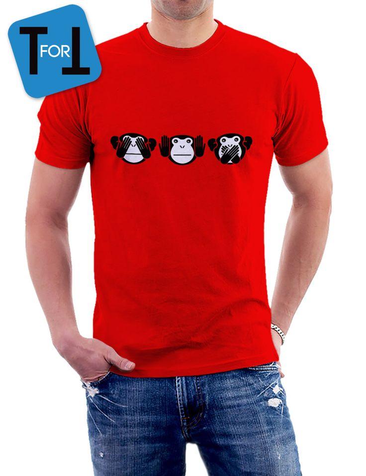 3 singes de la Sagesse - T-shirt les trois petits singes Tshirt Homme de la boutique teeFORtea sur Etsy