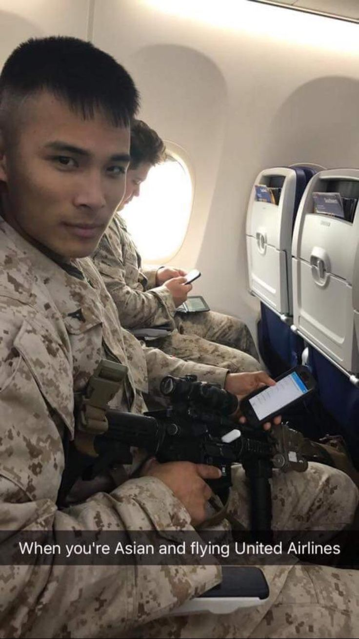 When you're Asian and flying United Airlines   funny pictures