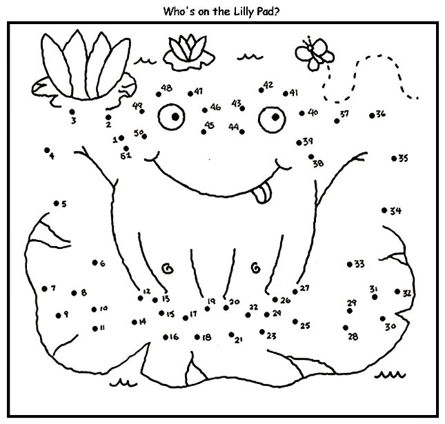 Frog Dot to Dot coloring page