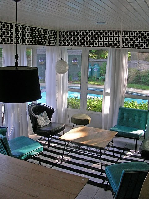 21 best images about window treatments for sunrooms on for Sunroom curtains