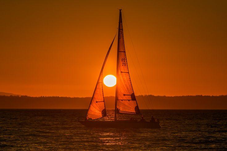 """bsharp321: """"Sailboat sunset tonight in Edmonds """""""