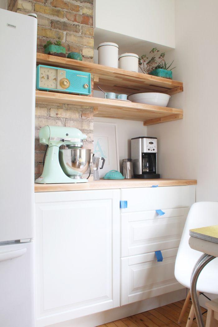 Kitchen 10 week progress report making an awkward corner nook work by adding a counter and - Kitchen nooks with storage ...