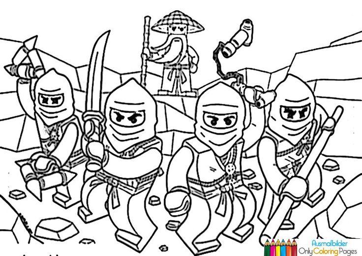 ninjago ausmalbilder zum ausdrucken  malvorlage