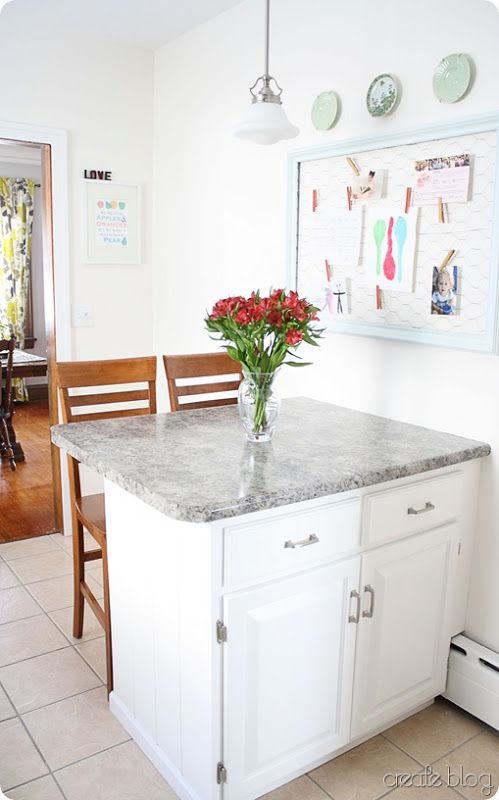Kitchen island against wall - Love the idea of this for my ...