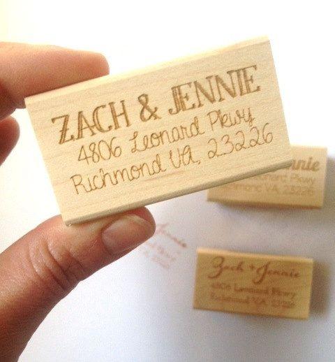 Return Address Stamp. Custom Address Stamp. Wedding Invitation Stamp. - LOVE this!