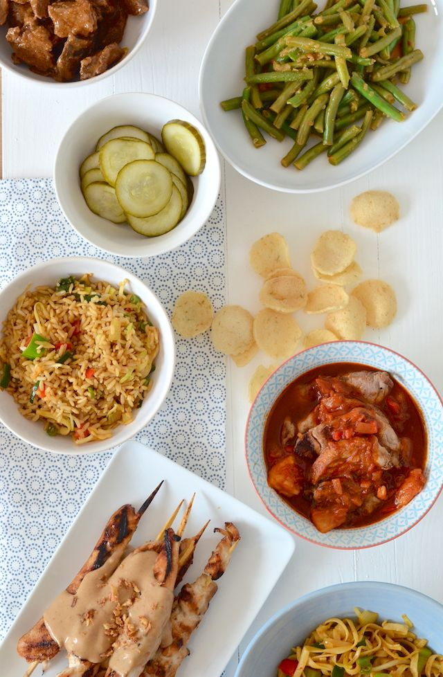 Indonesische rijsttafel zelf maken / Indonesian rijsttafel