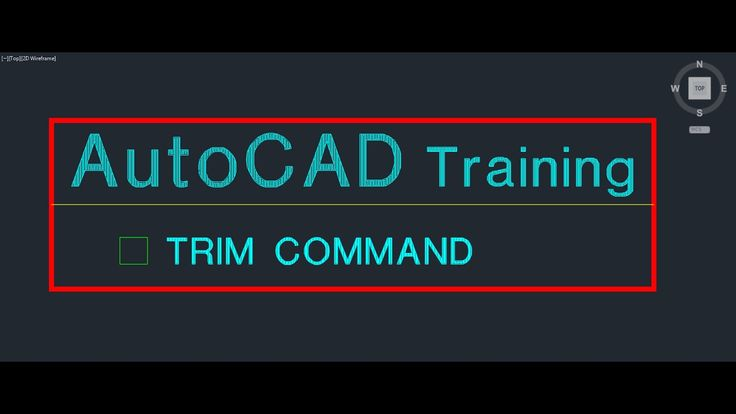 AutoCAD Training Trim Command | The AutoCAD Trim Command in Detail