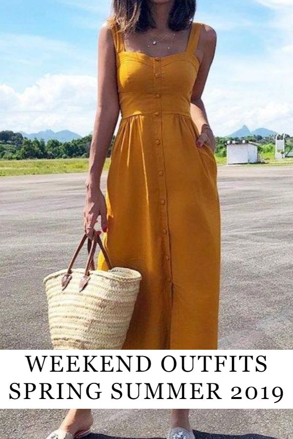 9e90cd2999af9 Weekend Outfit Ideas – Spring 2019   tous les jours   Casual dress outfits,  Fashion, Dresses