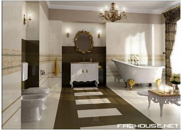 18 best images about style baroque on pinterest for Baroque style bathroom