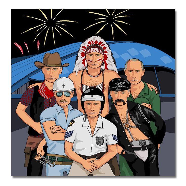 Putin Putin Olympic Village People Canvas Print | Jim'll Paint It