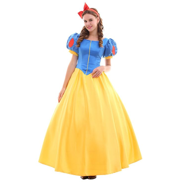 Adult Snow White Princess Dress Cosplay Costume Halloween Party Fancy Dress #Cosplaylegend #Dress #HalloweenCarnivalEvent